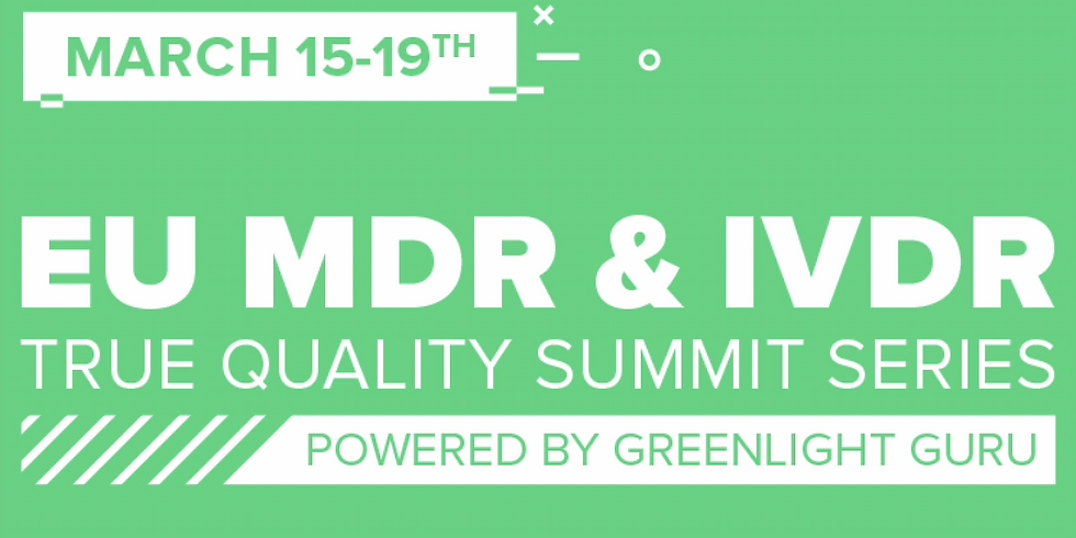 EU MDR & IVDR summit (it's virtual and free)