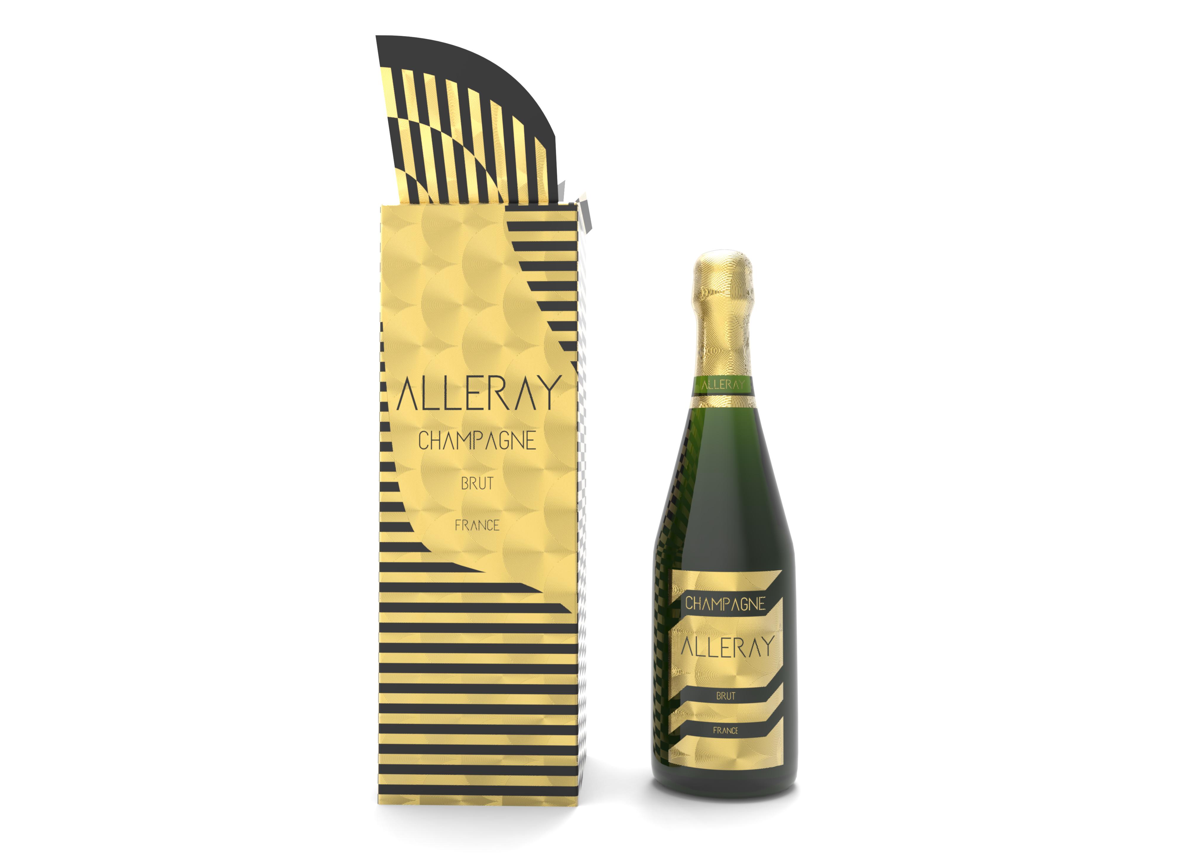 Champagne Frontal Botella y caja