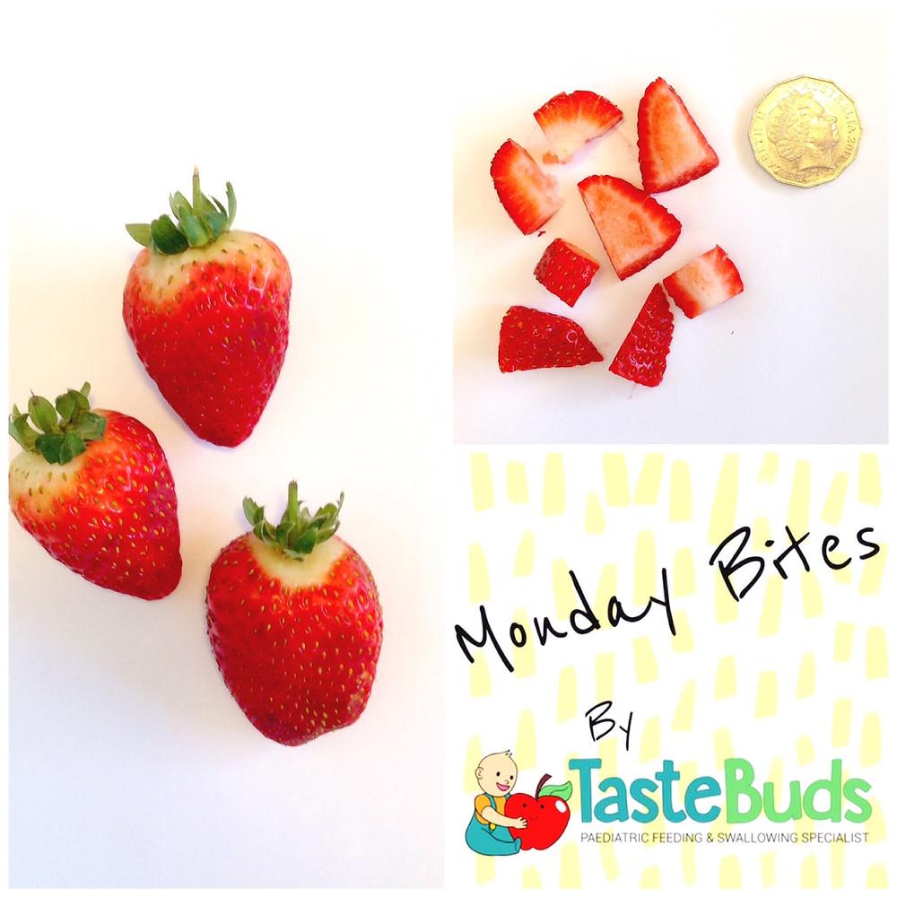 strawberries finger food baby led weaning monday bites blw toddler