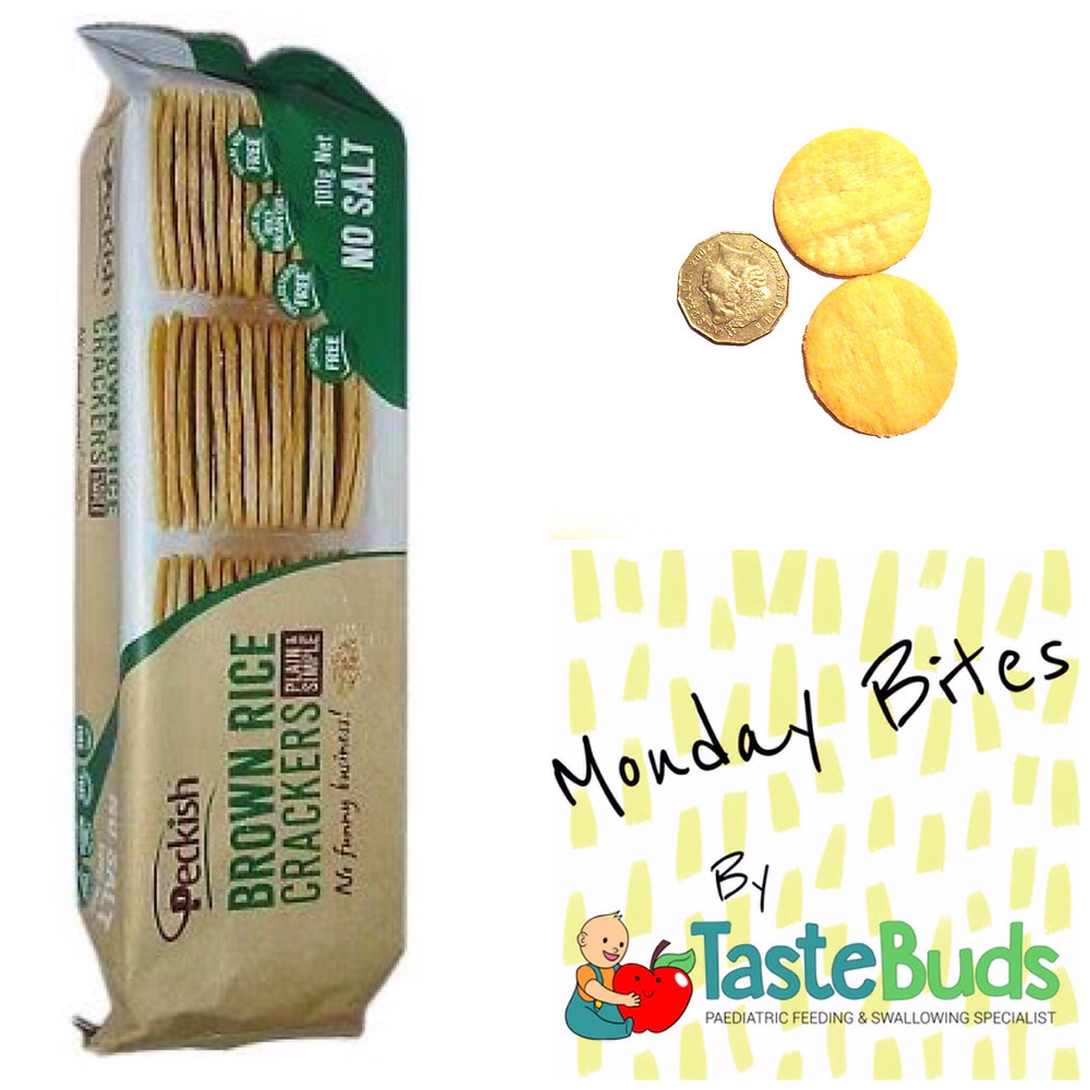baby led weaning blw finger food rice crackers peckish speech therapy review monday bites