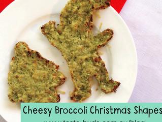 Cheesy Broccoli Christmas Shapes