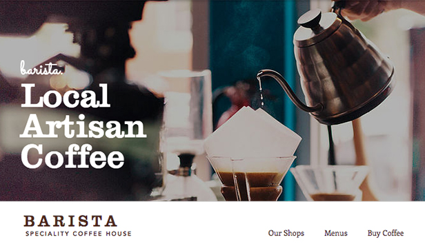 Cafés et Boulangeries website templates – Salon de thé
