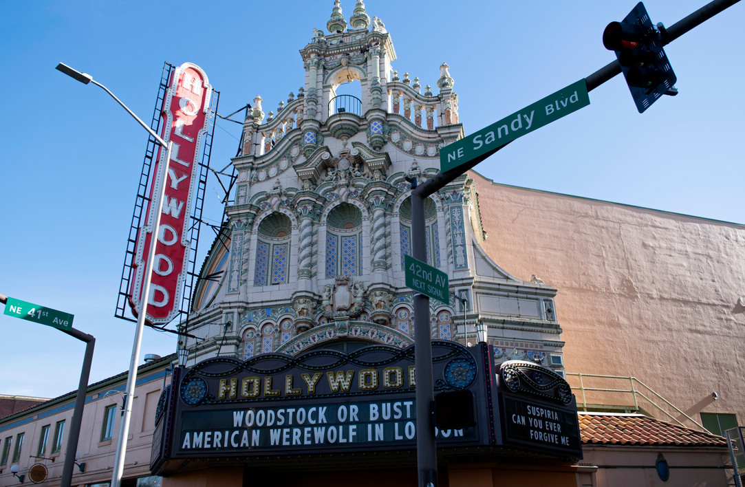 The Hollywood Theater in Portland, Oregon. 2019.