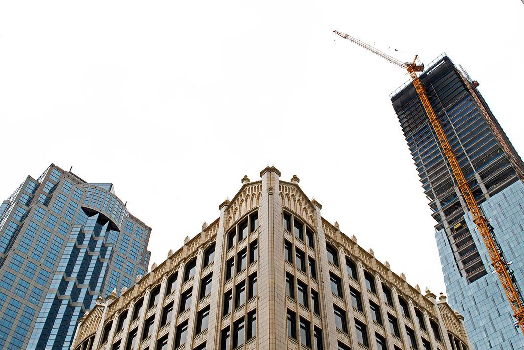 Skyscrapers in Seattle, WA. 2019.