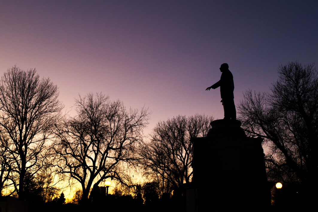 The Martin Luther King Jr. Monument in City Park, Denver, CO. January 2020.