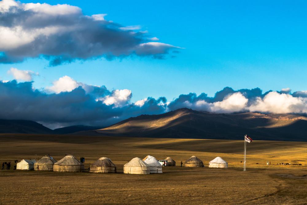 Song-Kul meer in Kirgizië