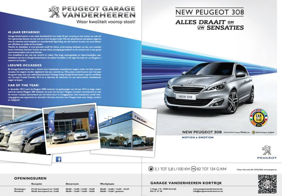 Reclamefolder Peugeot