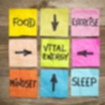 Voorwaarden voor een gezond, energiek leven: voeding, beweging, mindset en slaap