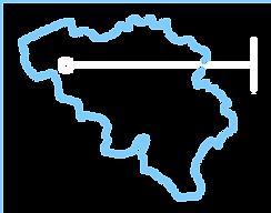 Kaart België MV Parts
