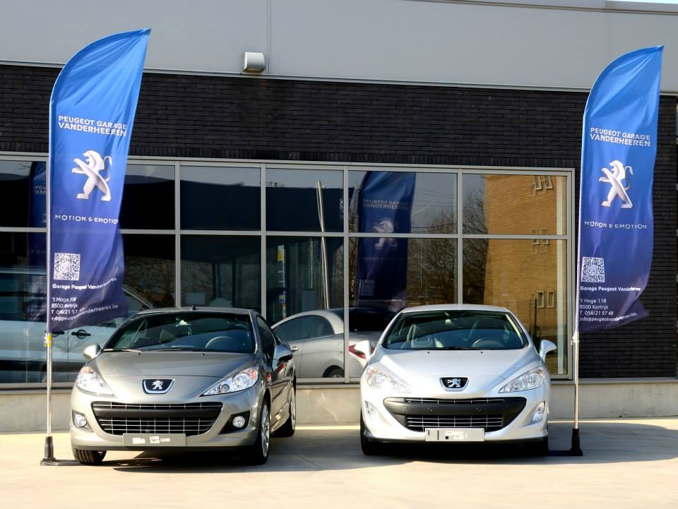 Vlaggen Peugeot