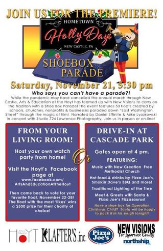 Hometown Holly Days Shoebox Parade Nov. 21