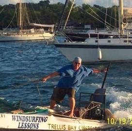 Jeremy hustling for windsurf lessons October 2007