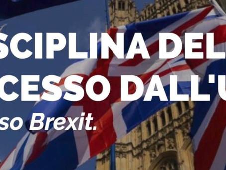 Disciplina del recesso dall'UE