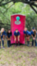 Pink Toilet for Girl Scouts