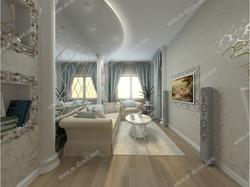 Зреркальная стена в гостиной
