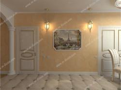 Фреска в классическом интерьере