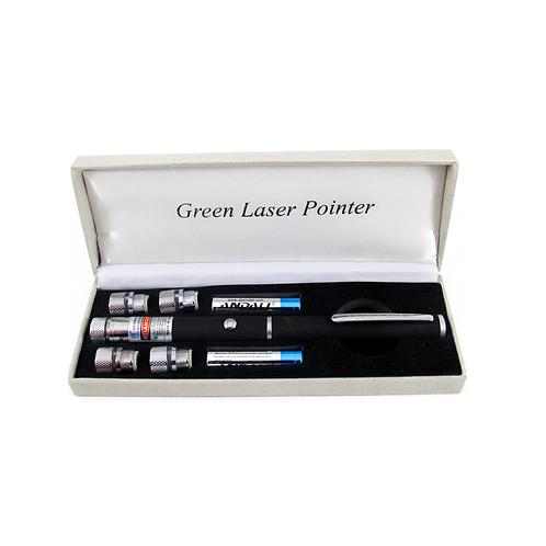 """Зеленая лазерная указка """"Laser Green Pointer"""" (5 насадок)"""