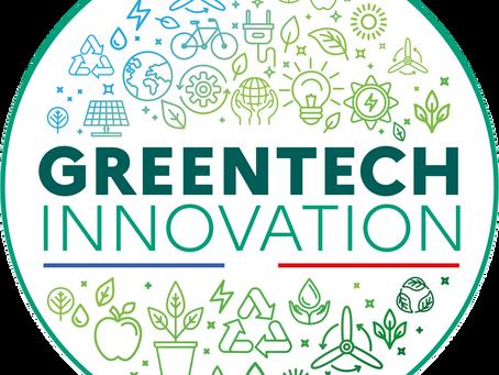 """Labellisé """"Greentech innovation"""""""
