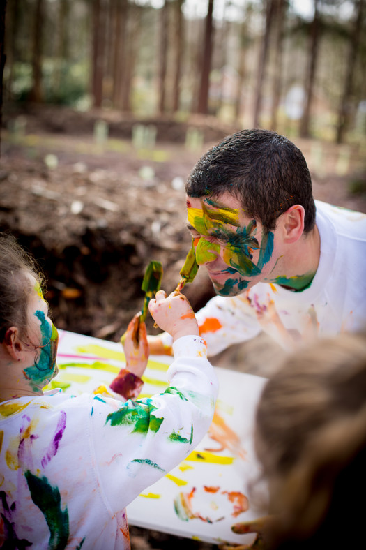 Family Paint Fight