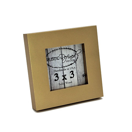 "3x3 1"" Gallery Picture Frame - Gold"