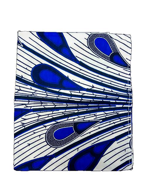 Turbante Blanco y Azul