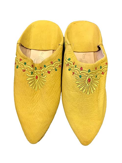 Babuchas Amarillas Bordadas
