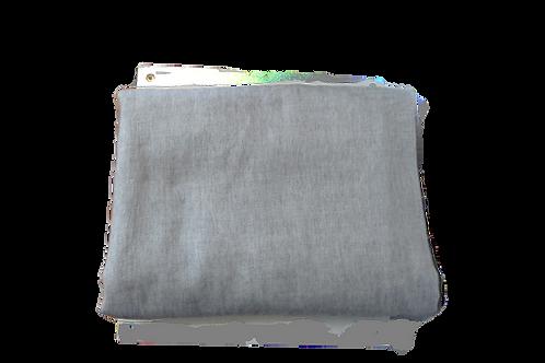 Manta Alpaca gris claro