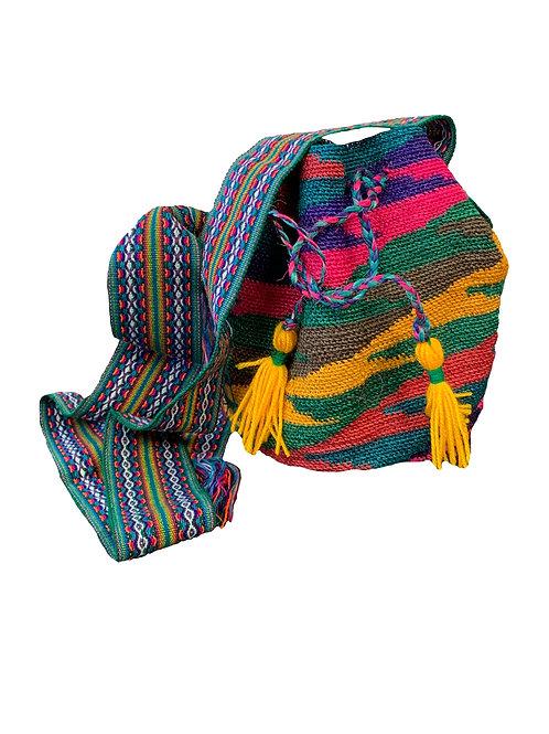 Shigra Fuxia, Amarilla, Verde y Morada Joaquina