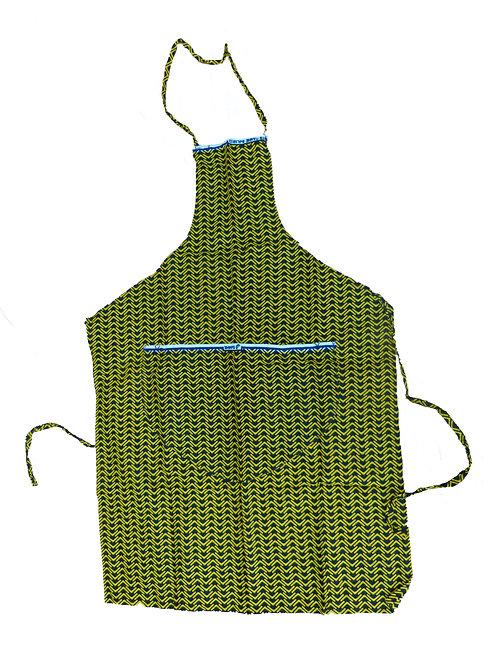 Delantal Amarillo y Verde