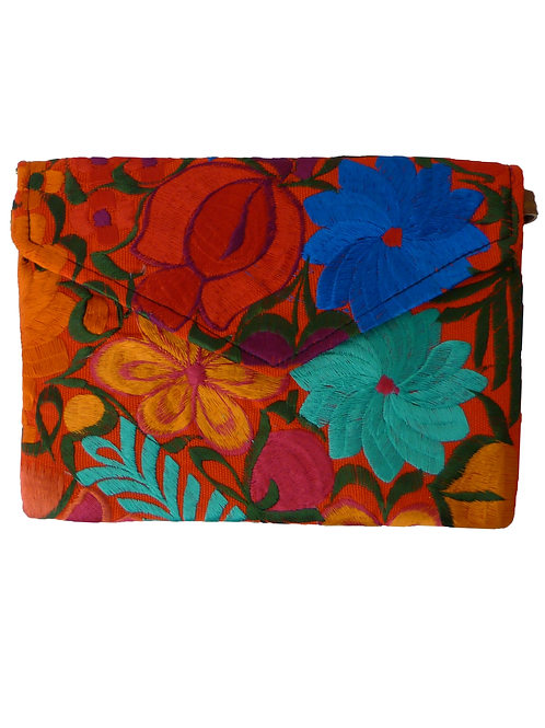 Clutch estampado flores Margarita
