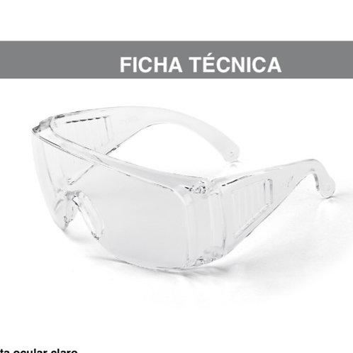 Gafas transparente anti empaño