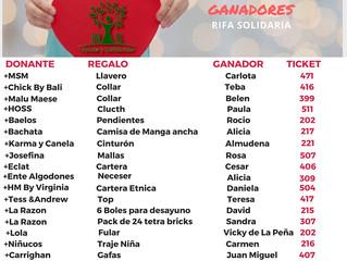 GANADORES RIFA MAS+ SOLIDARIA
