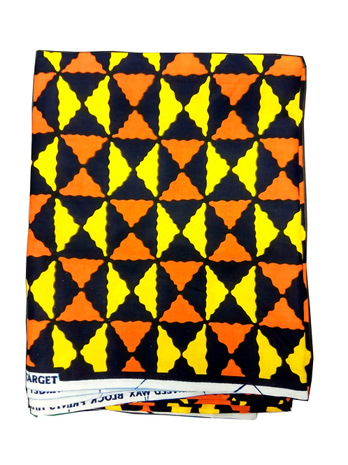 Turbante Naranja, Negro y Amarillo
