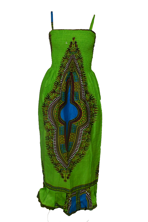 Vestido largo tirantes verde