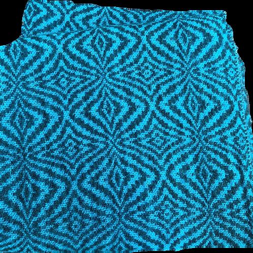 Azul con dibujos negros