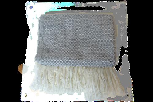 Bufanda estampada gris claro