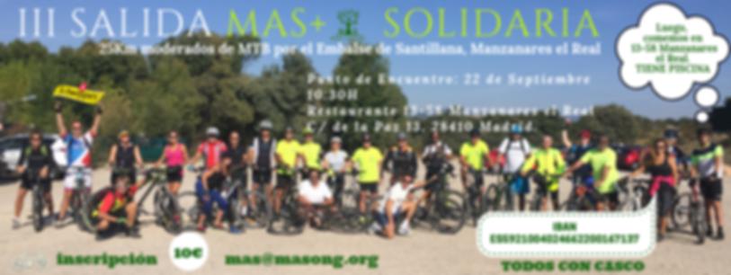 Salida Solidaricen Bici por el Canal del