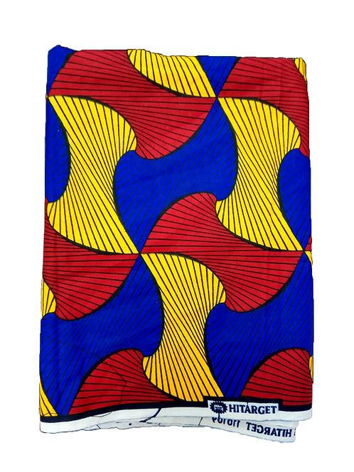 Turbante Rojo, Azul y Amarillo