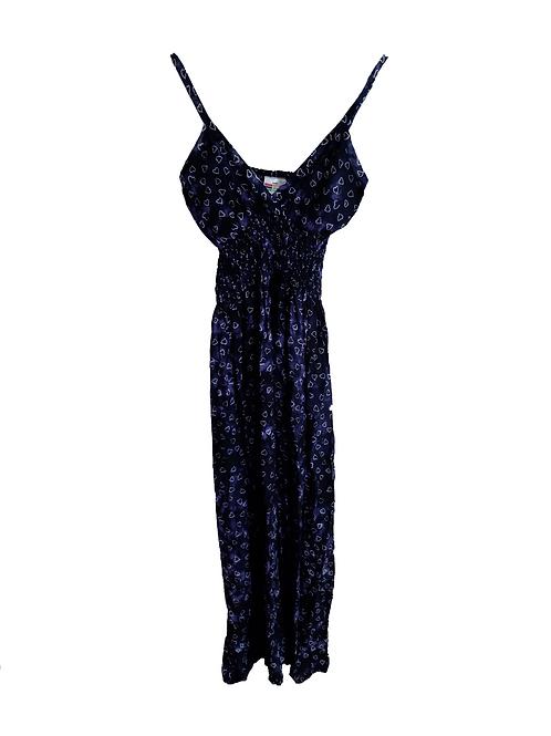 Vestido largo tirantes azul oscuro