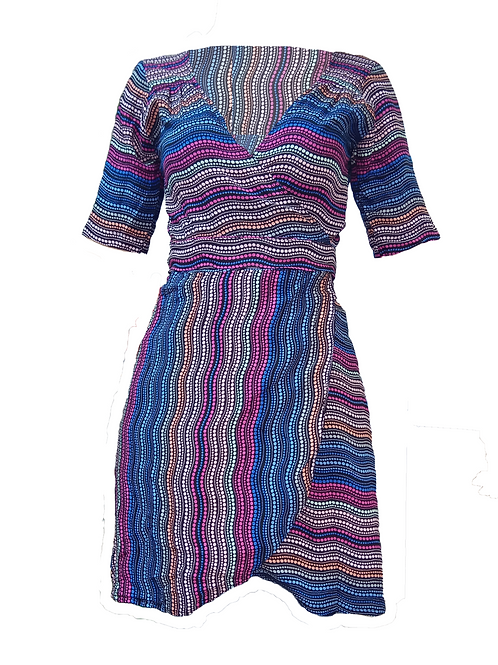 Vestido corto Awa multicolor