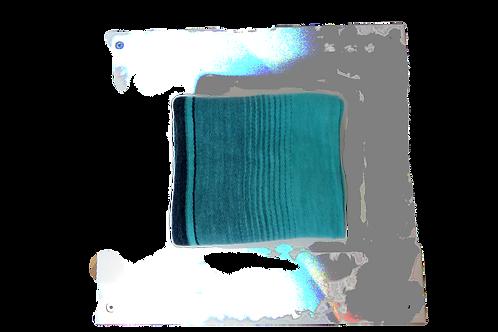 Cuello estampado turquesa