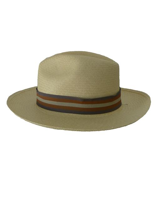 Sombrero rayas gris, rojo y beige