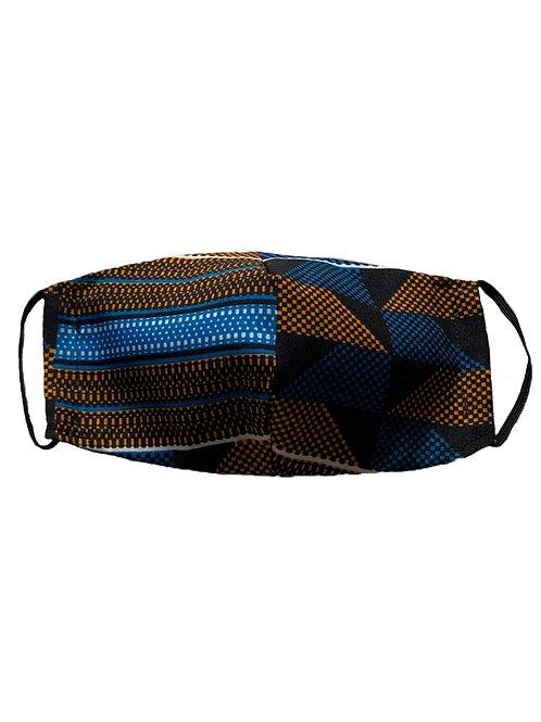 Mascarilla Lisa azul, marrón y negra