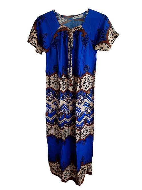 Vestido largo manga corta azul Enrre