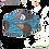 Thumbnail: Mascarilla Azul, Naranja y Blanca