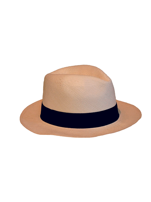 Sombrero blanco cinta azul