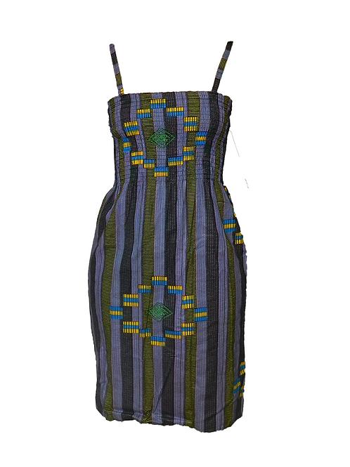 Vestido corto tirantes Bimba morado