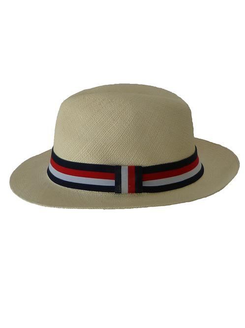 Sombrero rayas rojo, blanco y azul