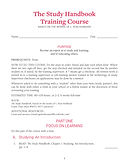 Pages from Study Handbook Training Cours