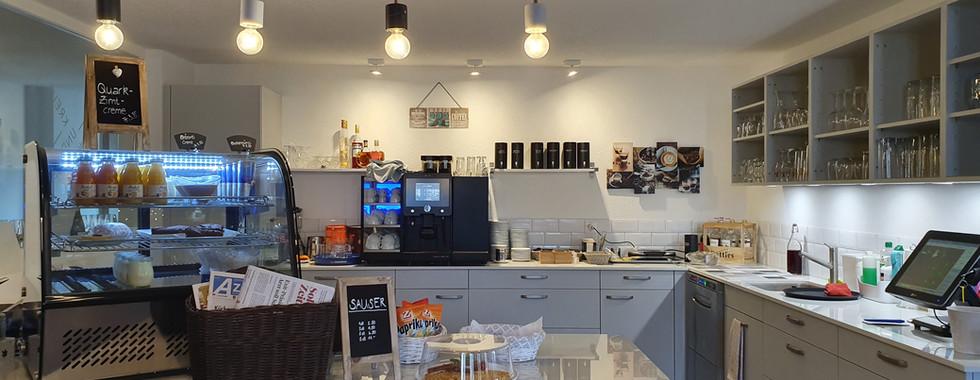 Buffetbereich im Café EG.
